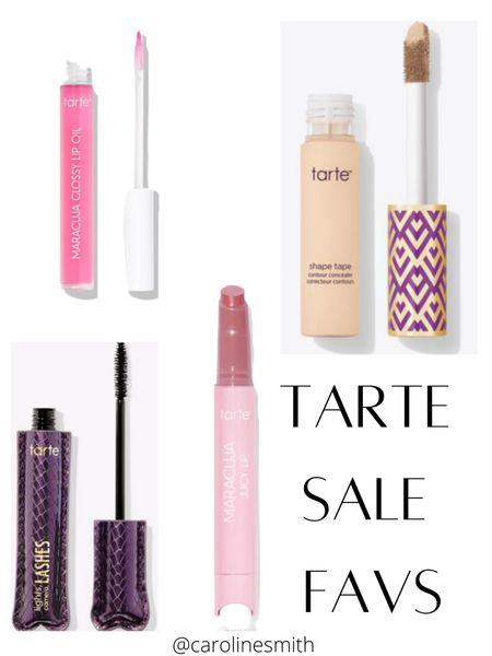 Tarte Sale Favs  30% off for public, 35% off for Tarte Fam! I listed the things I love + a few newbies I want to try!  Shape Tape - I use shade 20S (light sand) Maracuja Juicy Lips- I have Clear, Rose, Grapefruit, and Guava  #tarte #sale #makeup #beauty #skincare #lipgloss #lips   #LTKbeauty #LTKsalealert #LTKunder50