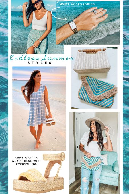 Summer bags, dresses and accessories