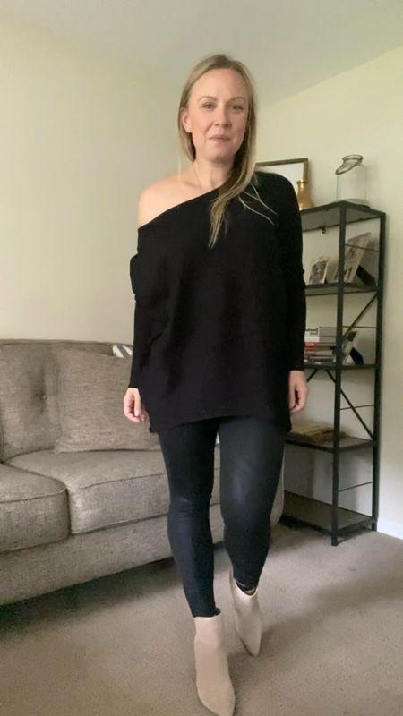Amazon black fall sweater, batwing sleeve or off the shoulder   #LTKunder50 #LTKstyletip #LTKSeasonal