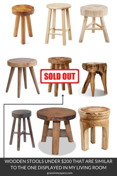 My favorite wooden stool is out of stock so I went around the web and did a round up for you! http://liketk.it/3gOVH #liketkit @liketoknow.it #woodenstool #wooden #stool