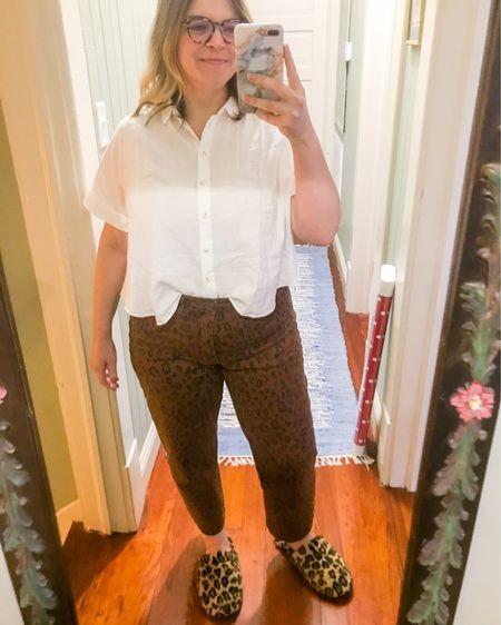 WFH, but make it (casual leopard) fashion. Shirt & slippers 25% right now! http://liketk.it/2ZEEJ #liketkit @liketoknow.it #LTKcurves #LTKsalealert   Shop my daily looks by following me on the LIKEtoKNOW.it shopping app