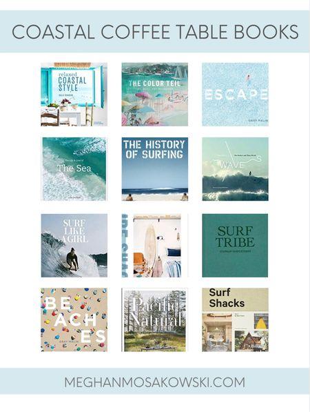 Coastal coffee table books   #LTKSeasonal #LTKhome #LTKunder50
