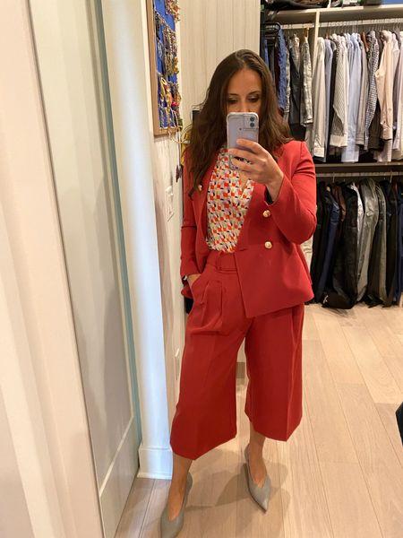 Everyone needs a happy pant suit 💖💖💖 #redsuit #pantsuit  #LTKworkwear #LTKstyletip #LTKHoliday