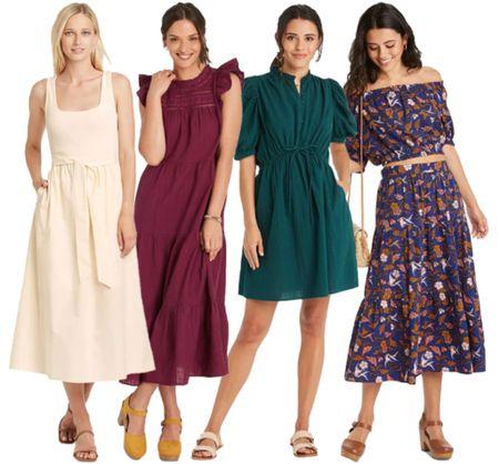 Target Fall Style  . . . Target find, Target dress, dress, dresses, fall dress, fall outfit, fall transition, midi dress   #LTKstyletip #LTKSeasonal #LTKunder50