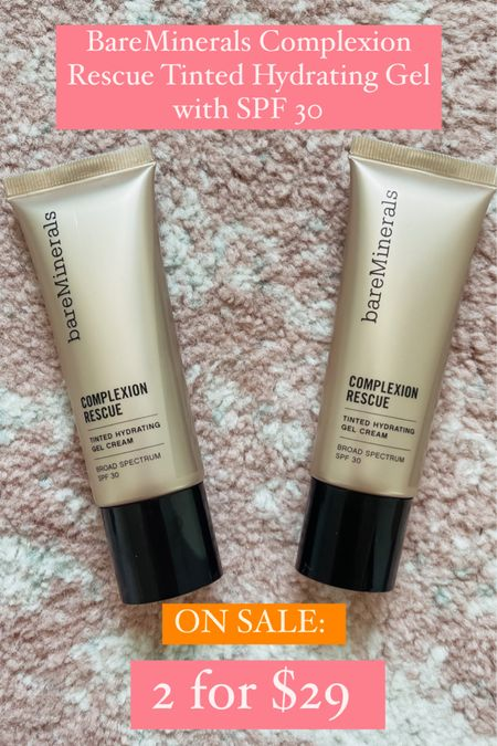 """@QVC HAS THE BAREMINERALS COMPLEXION RESCUE  TINTED HYDRATING GEL CREAM WITH SPF 30 ON SALE TODAY!! TWO FULL SIZE BOTTLES FOR $29. #ad   First time customers: Use code """"NEW"""" to get $15 off an order of $50 or more!   Second time customers: use code """"HELLO10"""" to get$10 off a purchase of $25 or more!   http://liketk.it/3k6Bm #liketkit @liketoknow.it #LTKunder50 #LTKbeauty #LTKsalealert"""