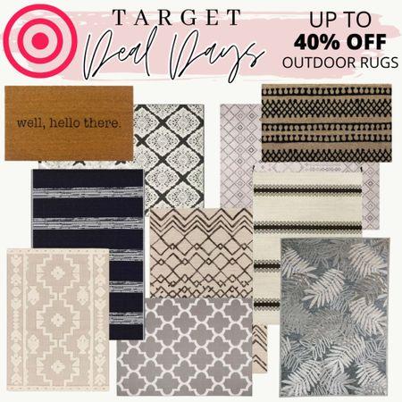 Outdoor area rugs apart of target deal days!  #outdoorrug #arearug #patiodecor #targetstyle #targethomedecor #targetdealdays  #LTKSeasonal #LTKsalealert #LTKhome
