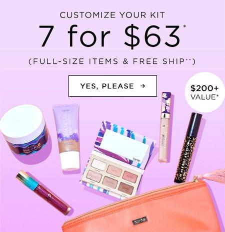 Get 7 full-size TARTE items for $63  #LTKbeauty #LTKsalealert #LTKunder100