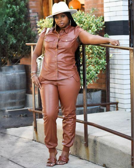 Faux leather do fall is always a must.   #LTKstyletip #LTKunder50 #LTKSeasonal