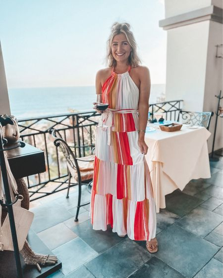 The perfect sunset dinner dress ❤️ Grab this for your next beach vacation! Use code AUDREYMADSTOWE for 15% off  http://liketk.it/2WLMK @liketoknow.it #liketkit #LTKtravel #LTKsalealert #LTKstyletip