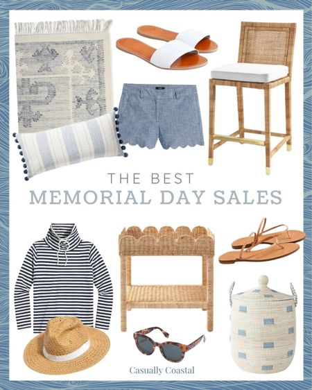 """So many great sales this weekend, including 20% off at Serena & Lily (use code """"DIVEIN""""), 40-70% off at J.Crew Factory (no code needed), and 25% off full price/50% off sale styles at J.Crew with code """"WEEKEND""""  @liketoknow.it @liketoknow.it.home #liketkit #LTKhome #LTKsalealert http://liketk.it/3gm4D  Summer sale alert, summer sales, memorial day sale, gifts gifts for her, gifts for mom, summer decor, summer decorations, summer home decorations, coastal decor, beach house decor, beach decor, beach style, coastal home, coastal home decor, coastal decorating, coastal house decor, blue and white decor, home accessories decor, coastal accessories, preppy style, beach vacation outfits, summer fashion, resort style, resort wear, beach style, serena & lily pillow, blue and white pillows, blue & white pillows, spring throw pillows, serena and lily pillows, blue serena and lily pillows, serena and lily pillows, serena & lily pillows, blue and white rugs, rugs with blue, serena and lily textured rug, 5x7 rugs, 6x9 rugs, 9x12 rugs, 11x14 rugs, 12x18 rugs, blue and white rug, j crew, j crew factory, sun hat, straw hat, beach hats, brown sun hat, beach hats for women, coastal counter stools, brown sandals, tan sandals, slide sandals, dressy sandals flat, sandals for wedding, rug with fringe, side tables, wicker tables, living room side tables, bedroom tables side, bedroom side tables,rattan basket decor basket with lid basket with top basket with cover handwoven baskets woven baskets with lid woven basket storage rattan basket set rattan baskets with lid spring, funnel neck sweatshirt, summer sweatshirt, Balboa counter stool, counter stools with back, counter stool woven, rattan counter stool, serena and lily counter stools, serena & lily counter stools, woven counter stools"""