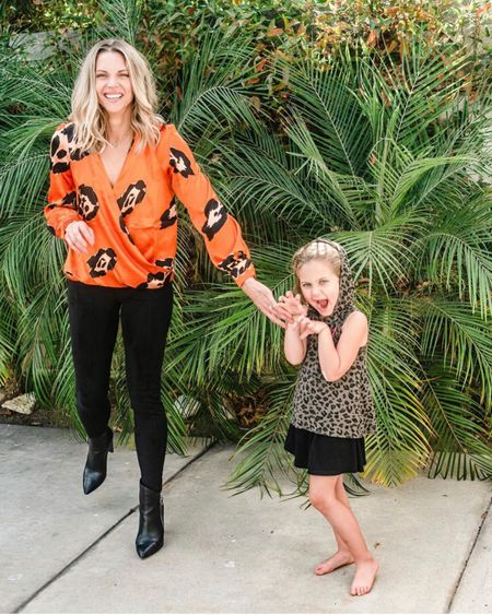 The leopard trend is still going strong! Loving this orange leopard top with velvet leggings for fall. Add some black boots and good to go! #liketkit @liketoknow.it http://liketk.it/2G0uG #leopardprint