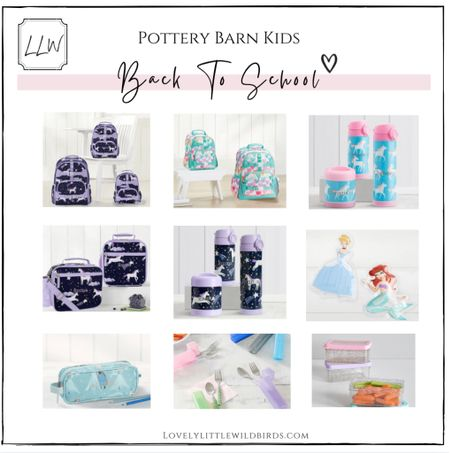 Back to school Backpacks. Lunch bags and lunch accessory picks from Pottery Barn Kids ✨ xo lovelies     #LTKunder50 #LTKkids #LTKbacktoschool