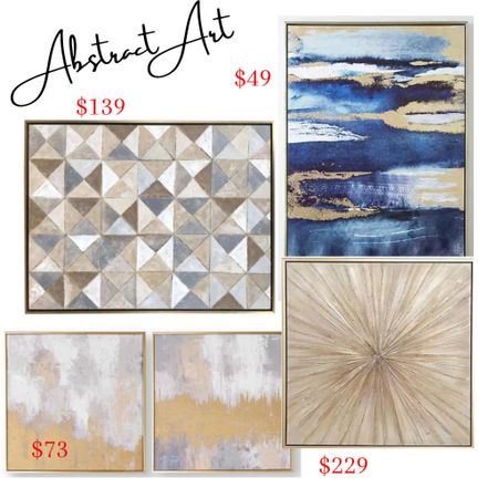 Abstract art for the home! I absolutely love the gold burst canvas art! 🖼   #LTKhome #LTKunder100