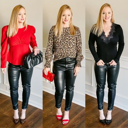 Check out these three ways to wear fabulous vegan leather pants! Which one is your favorite look??  http://liketk.it/377oT #liketkit @liketoknow.it You can instantly shop my looks by following me on the LIKEtoKNOW.it shopping app  #LTKVDay #LTKworkwear #LTKunder100