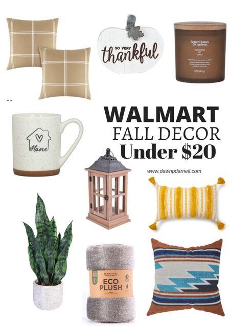 Walmart Fall decor Under $20 #walmarthome #ad  #LTKSeasonal #LTKhome #LTKsalealert