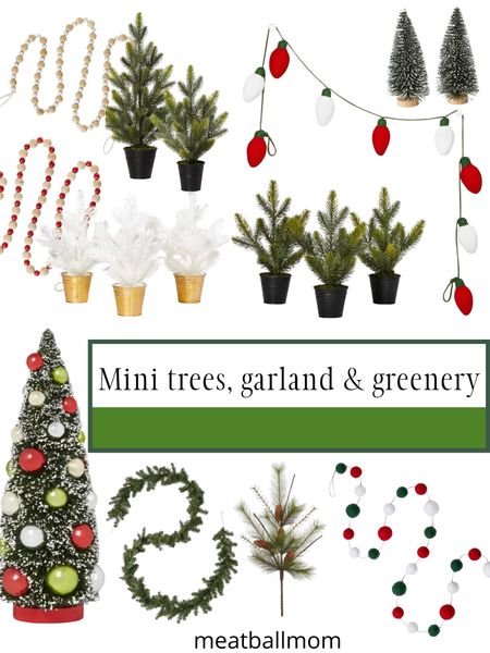 Mini Christmas trees, garland and greenery - holiday style                      #ltkstyletip #stayhomewithltk #ltkfamily holiday style #ltkholidaystyle  target Christmas home decor, target holiday decorations    #LTKunder50 #LTKFall #LTKhome http://liketk.it/2Z6mC #liketkit @liketoknow.it