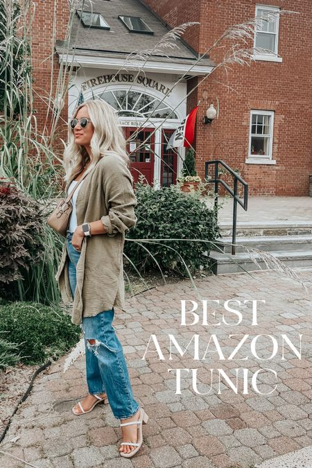 Best amazon find for fall, amazon tunic free people dupe with Abercrombie jeans and bodysuit   #LTKSeasonal #LTKstyletip #LTKunder50