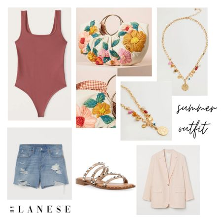 Fun summer outfit idea  Denim shorts & bodysuit & the most beautiful bag 😍   @liketoknow.it #liketkit #LTKitbag #LTKshoecrush #LTKunder100 http://liketk.it/3f5Tr