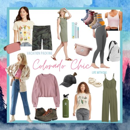 Cute hiking outfit. Cute Colorado outfit. Hiking clothes summer. Hiking fashion. Mountain trip outfits. Outdoorsy women's outfits. Colorado. Breckenridge. Vail. Denver.    http://liketk.it/3iIic #liketkit @liketoknow.it #LTKtravel #LTKstyletip #LTKunder50