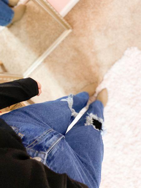 Target jeans & booties + amazon top! All true to size. #amazonfashion #targetstyle #targetjeans #booties   #LTKSeasonal #LTKstyletip #LTKunder50