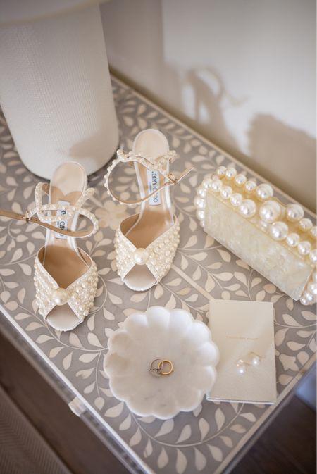 Wedding accessories, shoes, pearl clutch.   #LTKshoecrush #LTKwedding
