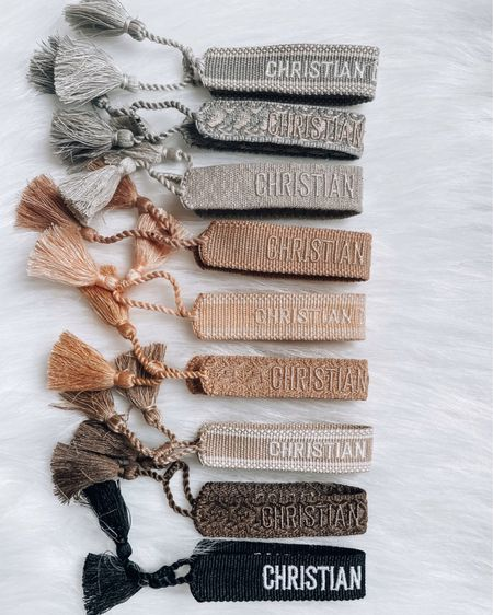 Christian Dior Woven Friendship Bracelets http://liketk.it/3hdQ4 #liketkit @liketoknow.it