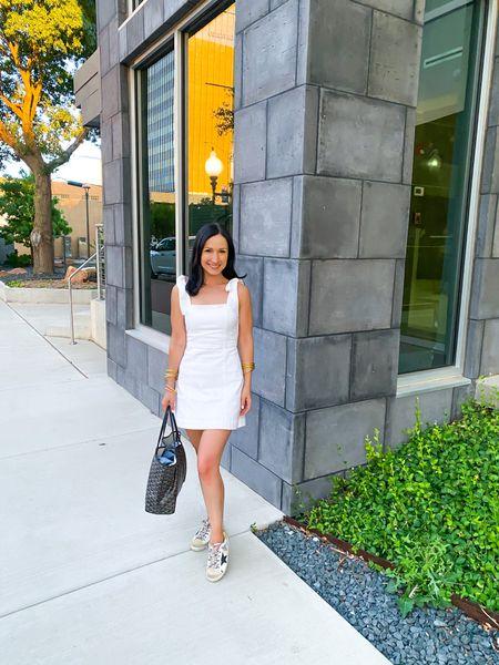 Gotta love a LWD!🤍👗I've linked a few of my favorites here, link in bio!  #littlewhitedress #whitedress #dallasblogger #denimdress   #LTKSeasonal #LTKstyletip