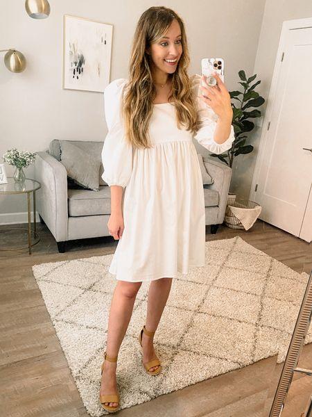 White dress // summer dress // babydoll dress // casual style // affordable style // Walmart style // Walmart fashion    #liketkit #LTKstyletip #LTKsalealert #LTKunder50 @shop.ltk