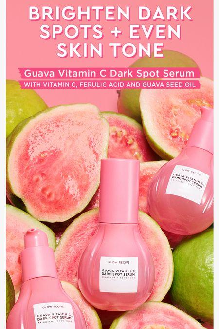 AVAILABLE NOW the all NEW Glow Recipe Guava Vitamin C Serum!  #steffsbeautystash   #LTKbeauty #LTKsalealert #LTKunder50