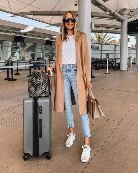 Comfy travel outfit for late summer & fall. Always need layers bc the plane gets so chilly and this is definitely my most worn coatigan (wearing xs). Grab it on sale right now! http://liketk.it/3mkJ6 #liketkit @liketoknow.it    #LTKunder100 #LTKsalealert #LTKtravel