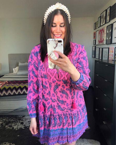 Pink Paisley Tunic Dress $39❤️// http://liketk.it/3d1pB #liketkit @liketoknow.it