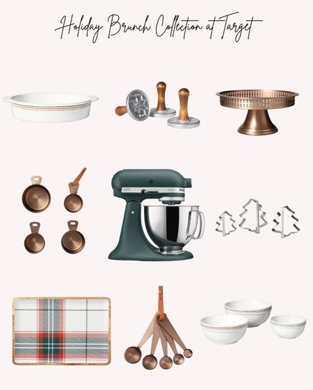 Holidays, Christmas, kitchen, dining, baking, mixer, baking dish, cookie cutters, serving tray, measuring spoons and cups, copper cake stand  Follow me for more ideas and sales.   Double tap this post to save it for later    #LTKGiftGuide #LTKhome #LTKHoliday