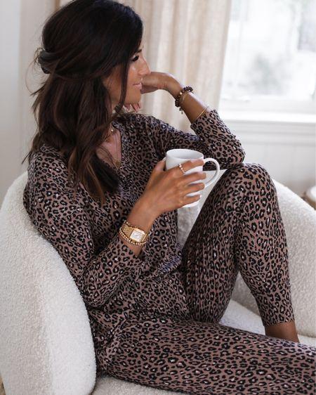 Pajama set, cozy loungewear, accessories, beaded bracelets, necklaces, StylinByAylin   #LTKstyletip #LTKunder100 #LTKSeasonal