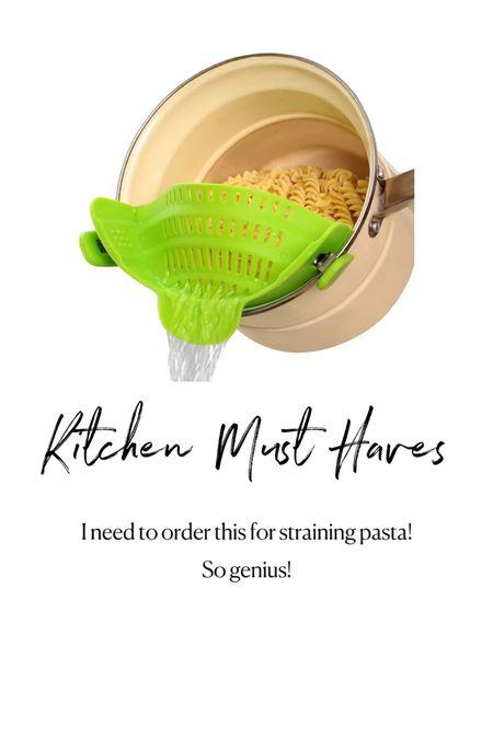 Amazon kitchen must haves. Pasta strainer   #LTKunder50 #LTKhome