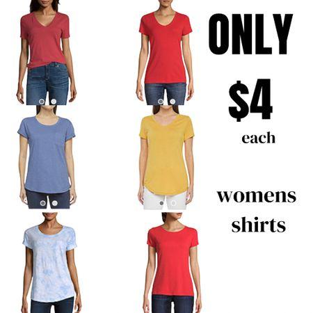 All Women's shirts on sale only $4.49!  http://liketk.it/3gphv #liketkit @liketoknow.it #LTKsalealert #LTKunder50