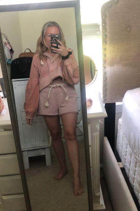 Pink lounge wear, airport outfit  #LTKworkwear #LTKstyletip #LTKtravel