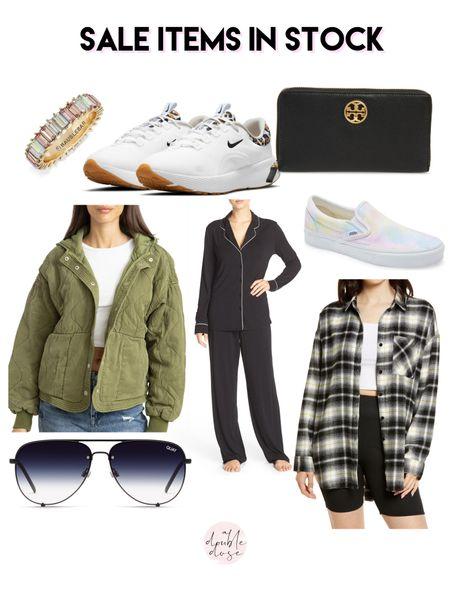 Nordstrom sale items in stock flannel top jacket sneakers sunglasses on sale   #LTKunder50 #LTKunder100 #LTKsalealert