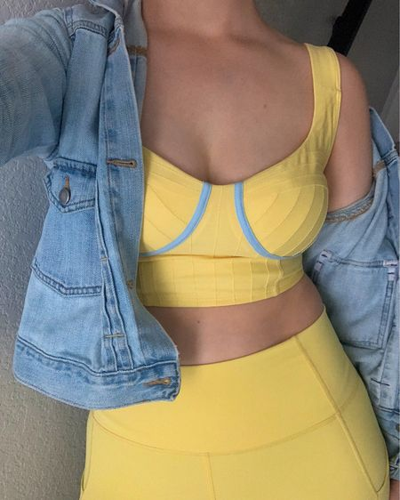 didn't know I needed a lemon bustier corset activewear set until I got it 🍋 #liketkit #LTKfit #activewear #workoutootd #summeroutfits @liketoknow.it http://liketk.it/3dPnT