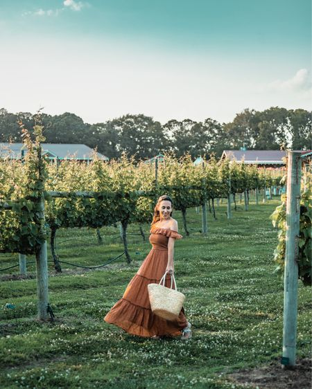 Summer nights at the winery are calling! Cheers to easy-breezy ruffled maxis for comfort and beauty all summer long! 🍷  #LTKSeasonal #LTKtravel #LTKunder50