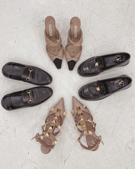 black and beige shoes lineup for fall 🖤🤎 loafers vs heels - which team is you?   #LTKshoecrush