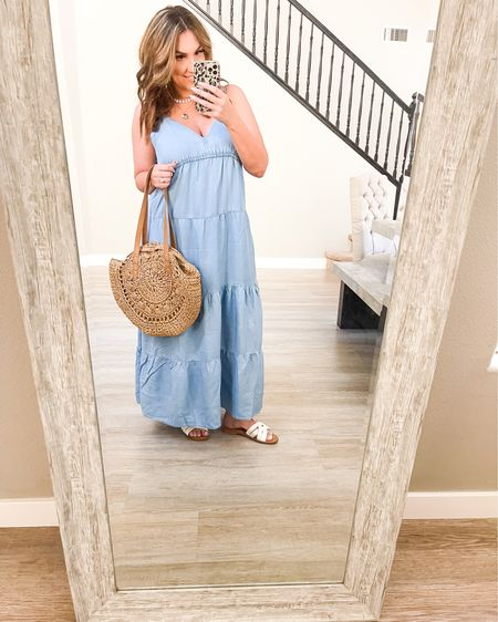 Beach outfits in full affect! H&M summer outfits, summer outfits, beach dress. Summer sandals, beach purse, summer wear, affordable finds. @liketoknow.it #liketkit http://liketk.it/3iQU6
