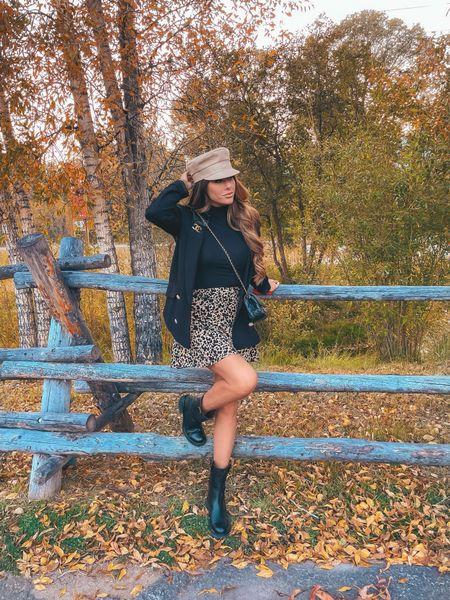 Fall Outfit Ideas, Dior Cap, Black Blazer, Fall Fashion, Boots, Fall Skirt, Chanel Handbag, Chanel Boots, Boots, Fall Shoes, Fall Handbags, Jackson Hole, Emily Ann Gemma http://liketk.it/3oI56