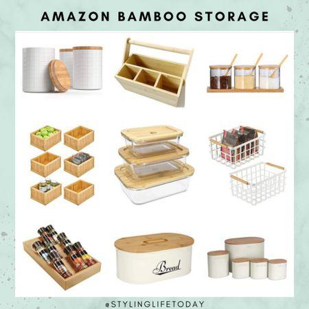 Bamboo kitchen storage solutions. Organization. Pantry. Organized. Organizers. Amazon home  #LTKunder50 #LTKhome #LTKeurope