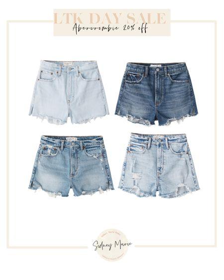 Abercrombie denim shorts and jeans on sale for LTK day @liketoknow.it http://liketk.it/3hs2e #liketkit #LTKsalealert #LTKunder100