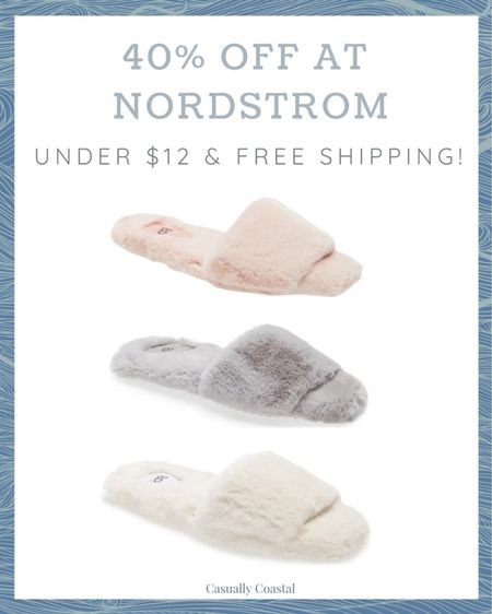 Great deal if you're looking for spring or summer slippers! Now 40% off, making these under $12 with free shipping!  @liketoknow.it @liketoknow.it.home #liketkit #LTKunder50 #LTKsalealert #LTKfamily http://liketk.it/3fgbi   each vacation outfits, summer fashion, resort style, resort wear, beach style, slippers, women's slippers, slippers for women, summer slippers, summer slipper shoes, spring slippers, pink slippers, gray slippers, grey slippers, nordstrom sale, nordstrom slippers, slippers on sale, cozy slippers, slide slippers, slide slippers with sole, plush slippers, plush slipper slide, plush slippers sandals, fuzzy slippers, fuzzy slipper sandals