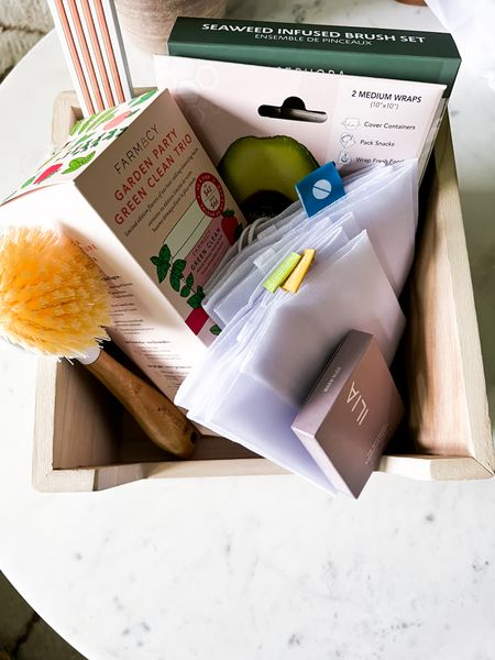 And let's remember the wrapping matters as well.  Instead of paper or plastic, house your gifts in a reusable and sustainable bin so that the recipient can reuse however they'd like in their home!   #LTKHoliday #LTKGiftGuide