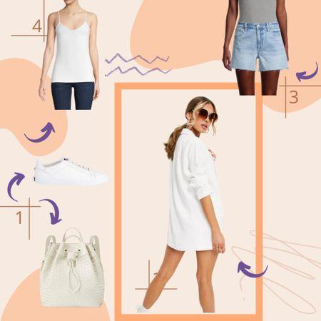 Denim Shorts + Blazer + white sneakers outfit http://liketk.it/3jBUG #liketkit @liketoknow.it