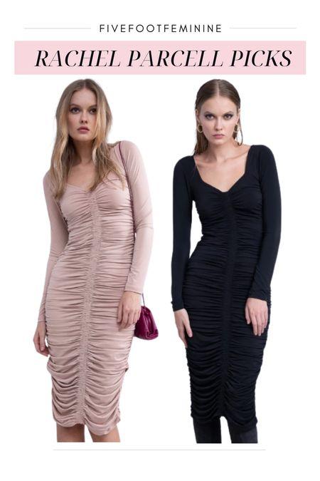 Rachel Parcell fall collection - long sleeve ruched bodycon dress   #LTKwedding #LTKSeasonal #LTKstyletip