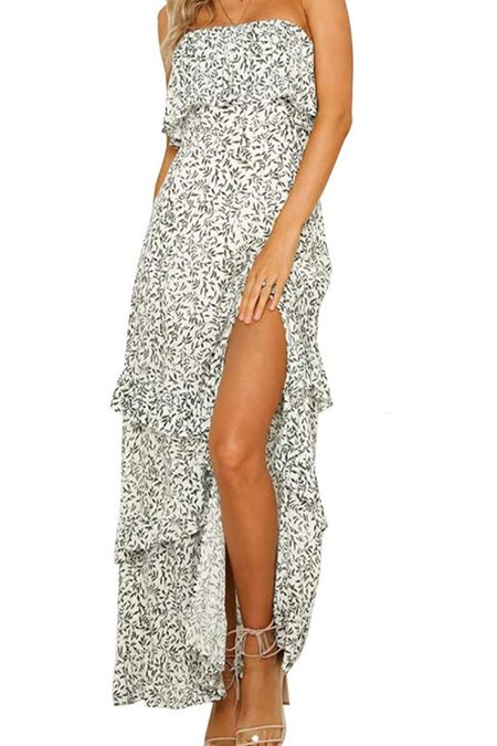 Floral and feminine maxi for the summer into the fall.   #LTKSeasonal #LTKstyletip #LTKunder50