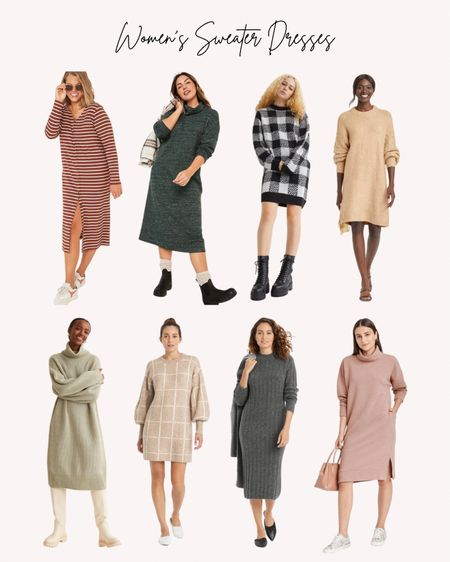Women's clothing, sweater dresses, cozy, fall, winter  Follow me for more ideas and sales.   Double tap this post to save it for later    #LTKSeasonal #LTKunder50 #LTKstyletip